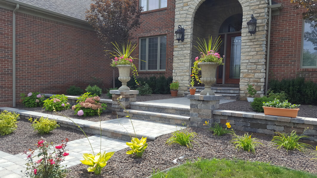Locke's Landscaping & Brick Paving - Before & After - Clarkston, Davison, Grand Blanc, Fenton & more.