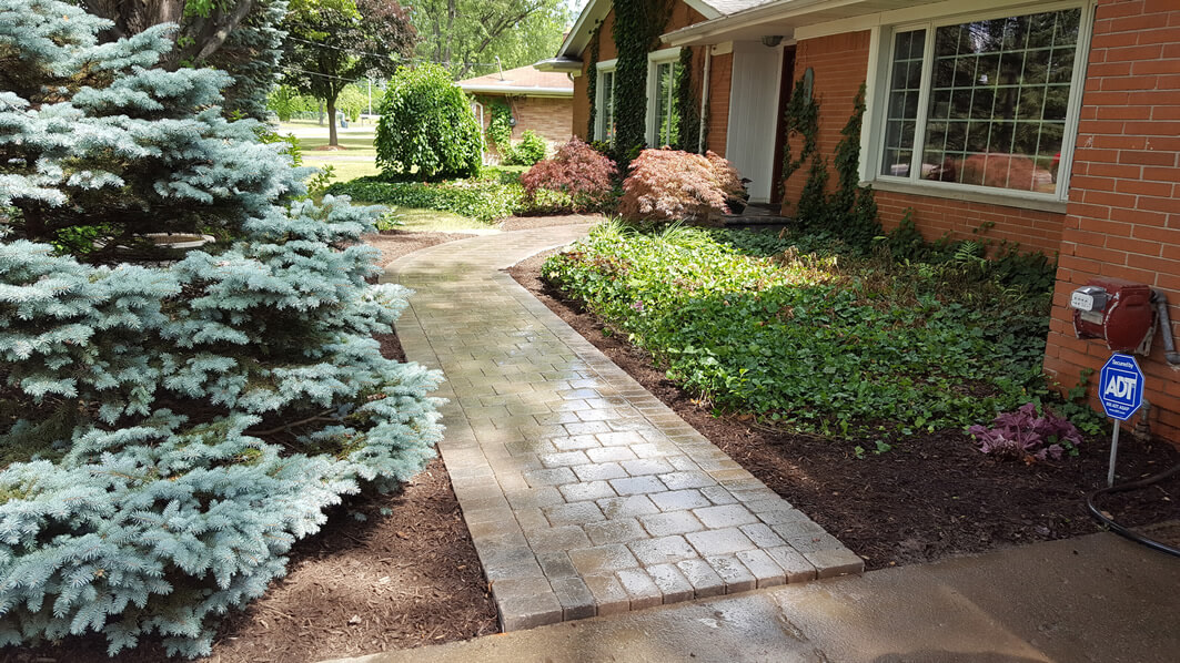 Locke's Landscaping & Brick Paving - Before & After - Lapeer, Flushing, Holly, Ortonville & more.