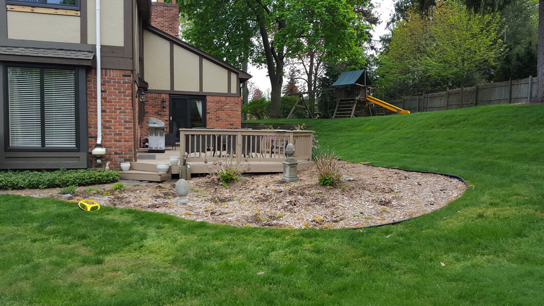 Locke's Landscaping & Brick Paving - Before & After - Goodrich, Fenton, Flint, Richfield & more.